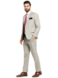 Mens luxurazi beige business 2 piece suit