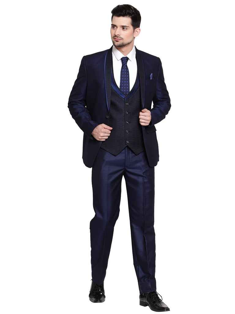 Shop the new LUXURAZI mens blue suit