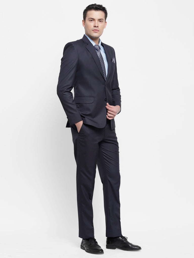 Navy Blue Raymond Mens Formal 2 Piece Suit