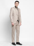 Dunmore Beige Mens Formal Raymonds 3 Piece Power Suit