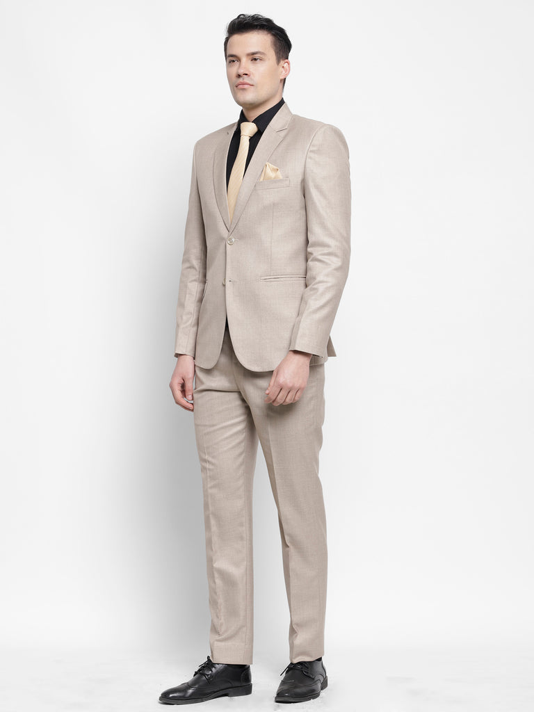 Dunmore Beige Mens Formal Raymonds 2 Piece Power Suit