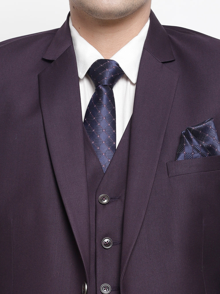Imperial Purple Raymonds Premium Men 3 Piece Formal Power Suit