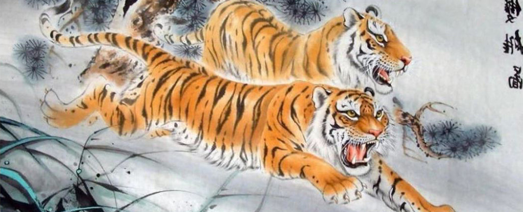 ANGRY TIGERS IN JAPANESE ART