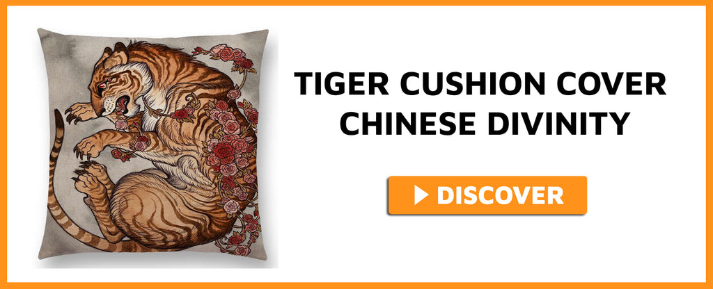 TIGER CUSHION COVER CHINESE DIVINITY