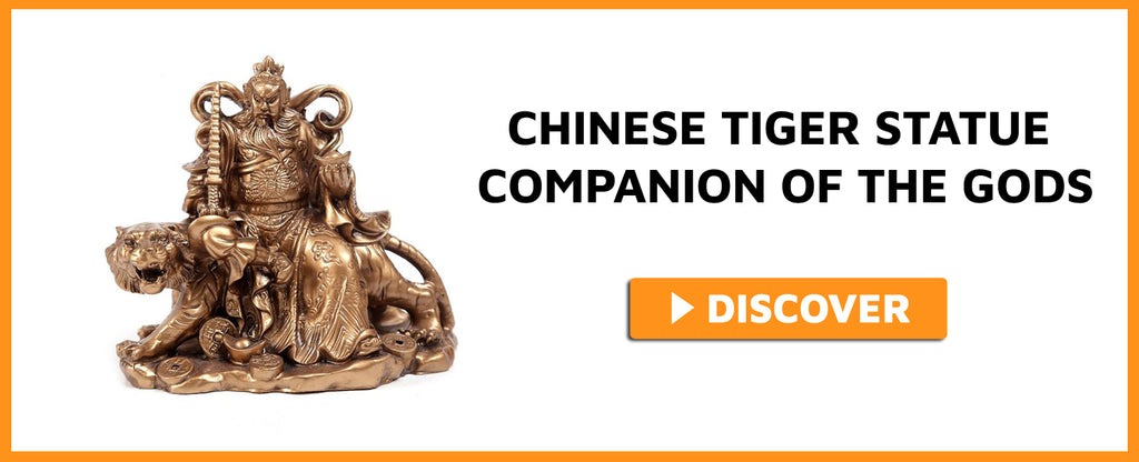 CHINESE TIGER STATUE COMPANION OF THE GODS