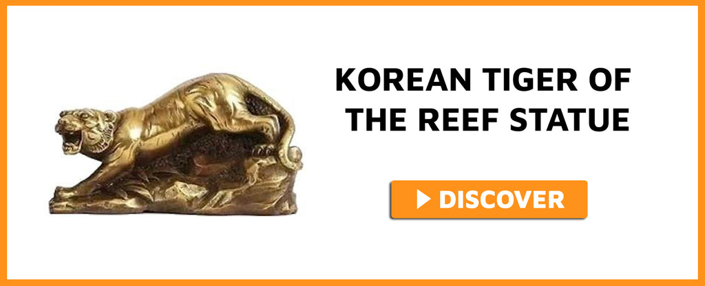 KOREAN TIGER OF THE REEF STATUE