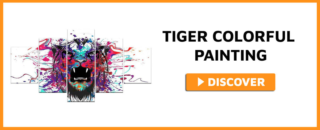 TIGER COLORFUL PAINTING