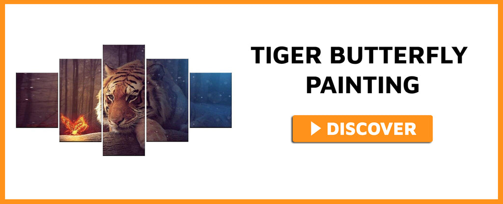 TIGER BUTTERFLY PAINTING