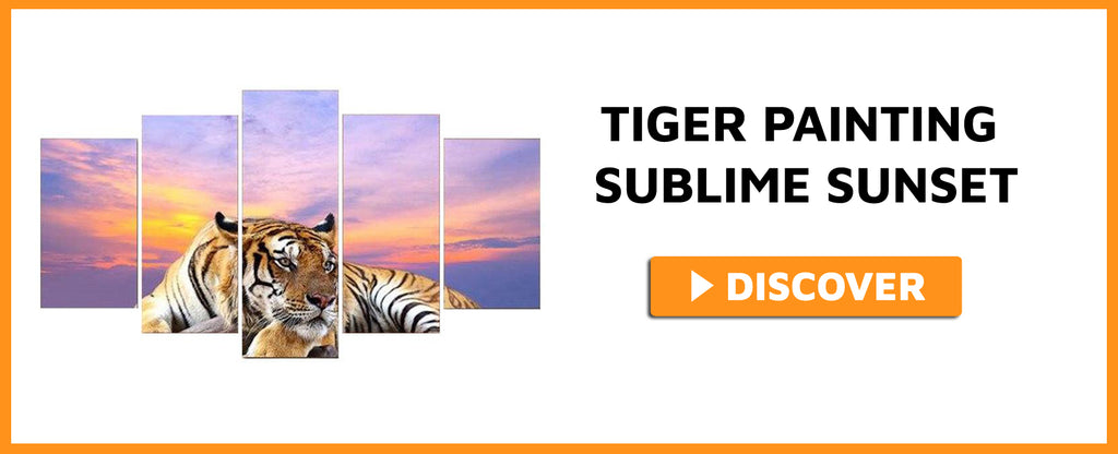 TIGER PAINTING SUBLIME SUNSET