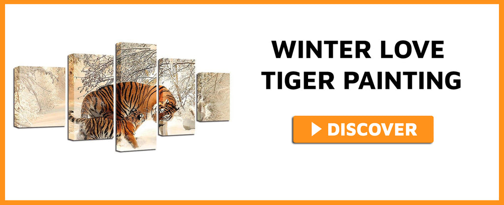 WINTER LOVE TIGER PAINTING