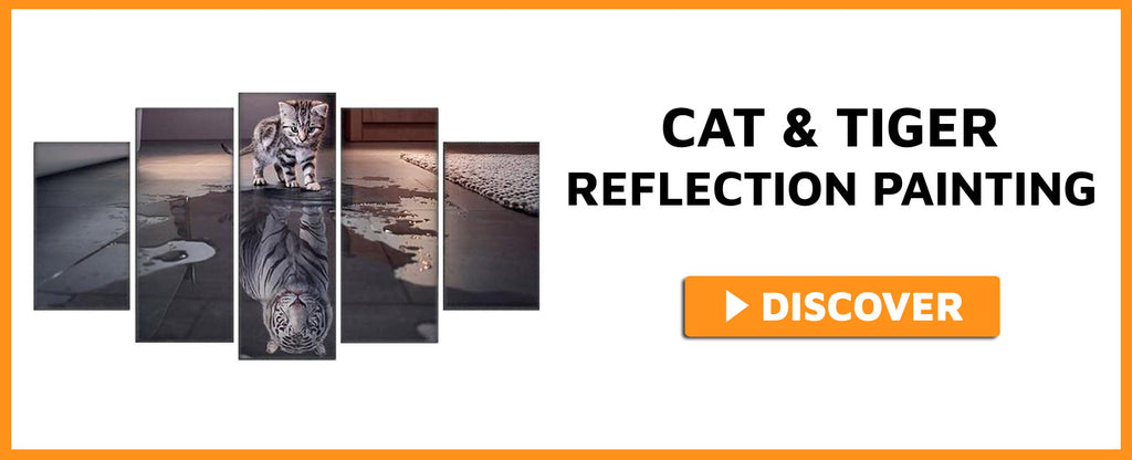 CAT & TIGER REFLECTION PAINTING