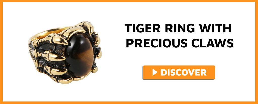 TIGER RING WITH PRECIOUS CLAWS