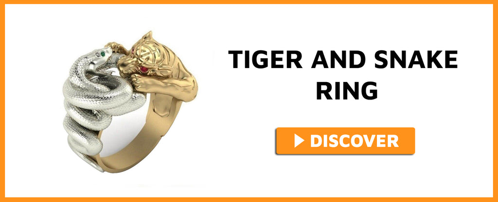 TIGER AND SNAKE RING