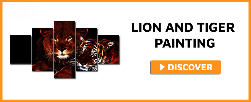 LION AND TIGER PAINTING