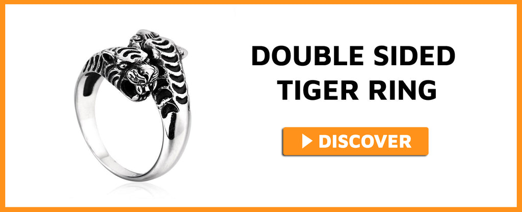 DOUBLE SIDED TIGER RING