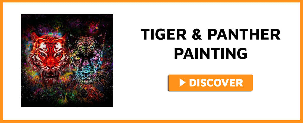 TIGER AND PANTHER PAINTING