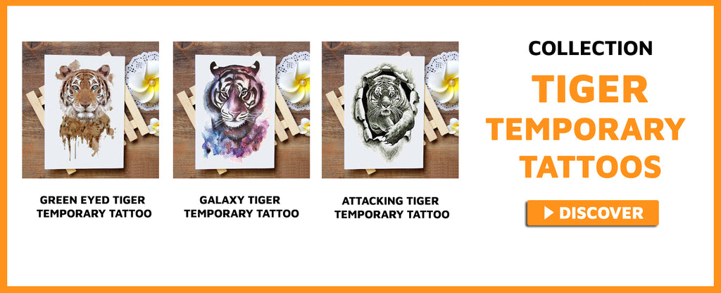 tiger temporary tattoos collection