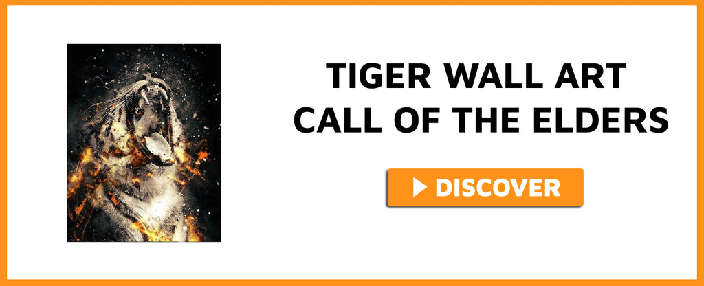 TIGER WALL ART CALL OF THE ELDERS