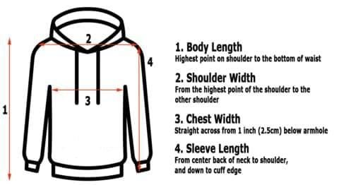 How to measure hoodie size