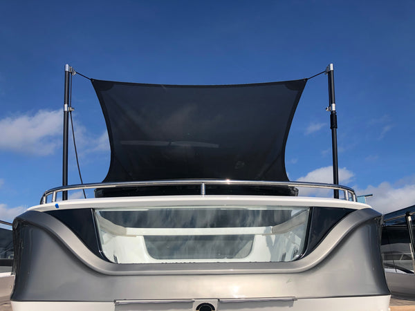 Sunshade with sunfly poles