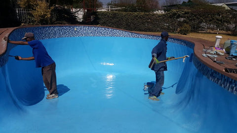 how to paint a pool