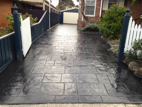 smooth finish concrete driveway