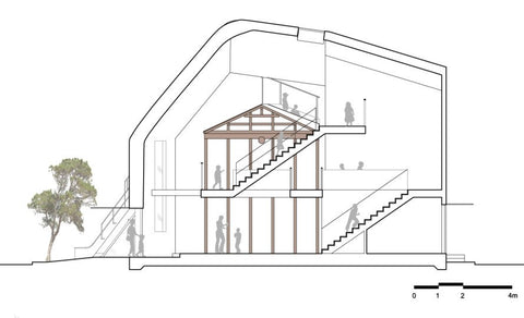building design section drawing