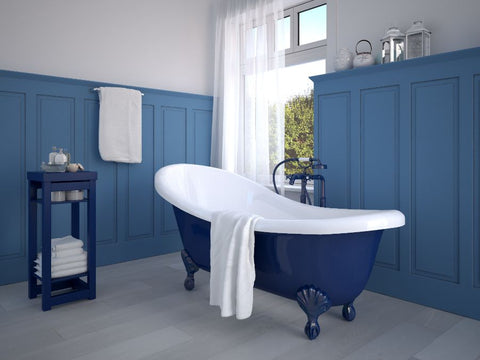 what is the most popular paint color for bathrooms