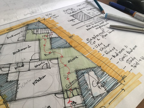 how to draw a floor plan by hand