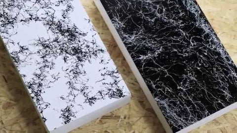 how to imitate marble with paint
