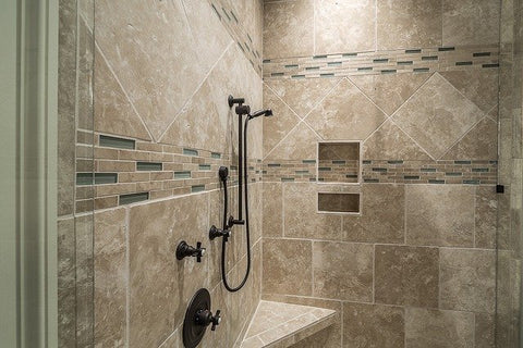 ceramic vs porcelain tiles for shower
