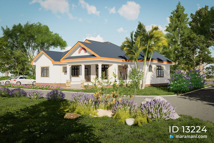 Contemporary 3 Bedroom House Plan -  ID 13224