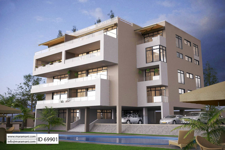 Apartment Complex Floor Plan - ID 69901 - Building Plans by Maramani