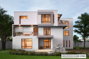 Mansion Home Designs | Modern Duplex House Designs In Nigeria Floor Plans By Maramani