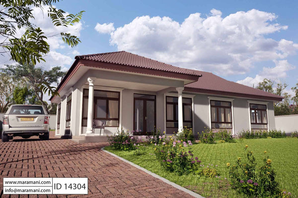 4 bedroom single story house plan - ID 14304 - House Plans by Maramani