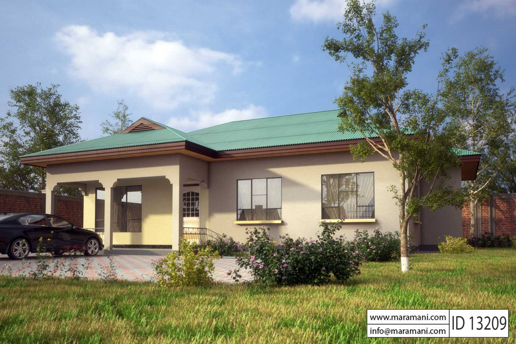 3 bedroom house plan id 13209 house plans by maramani for Modern house plans and designs in kenya