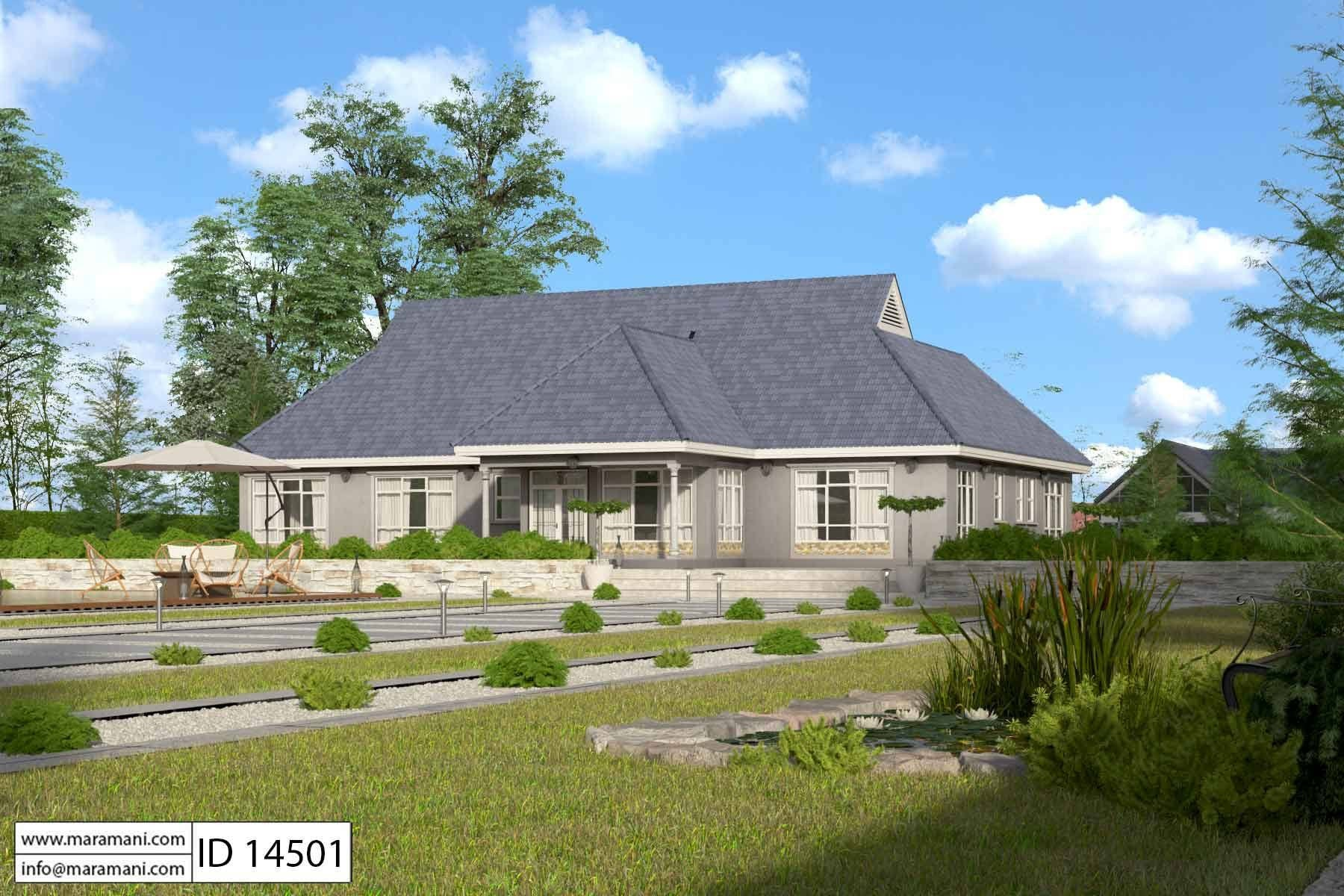Four bedroom bungalow plan id 14501 house plans by for Idaho house plans