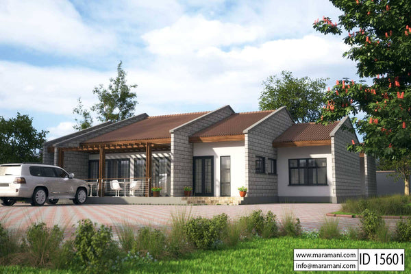 Lodge plan with 5 bedrooms - ID 15601 - House Plans by Maramani
