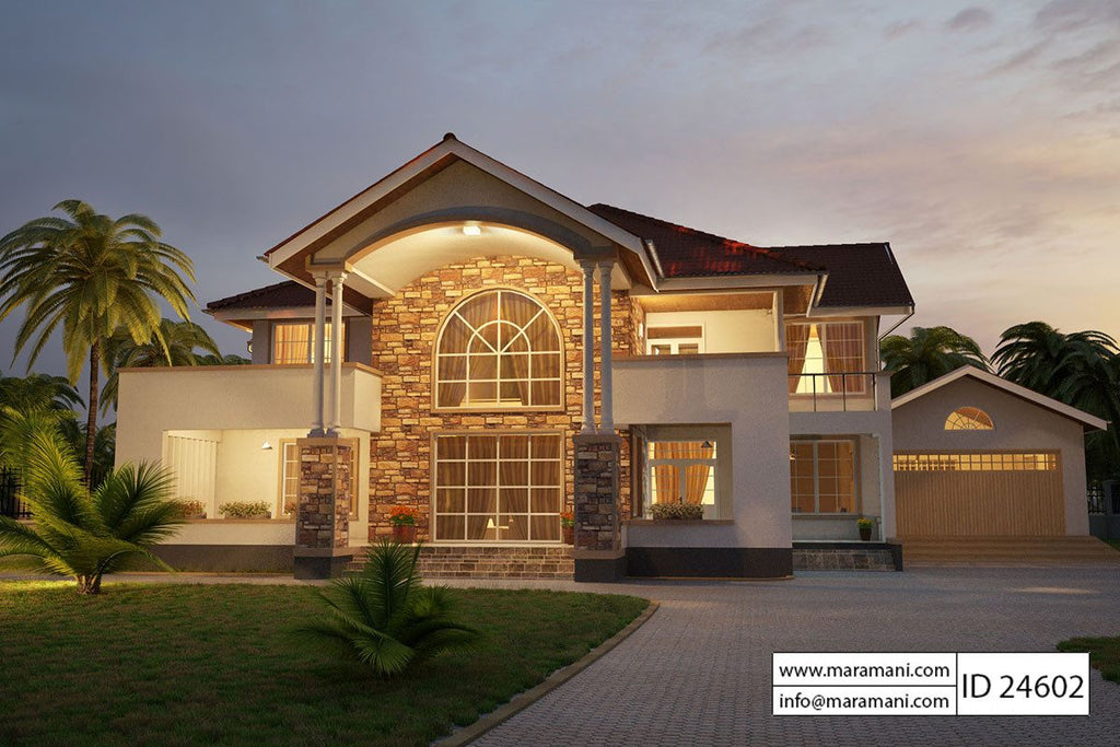 Four bedrooms villa id 24601 for 4 bedroom home plans and designs