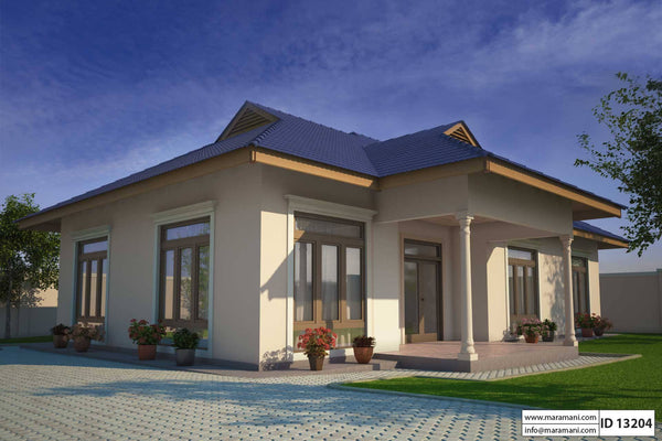 Small Three Bedroom House Plan - ID 13204 - Floor Plans by Maramani