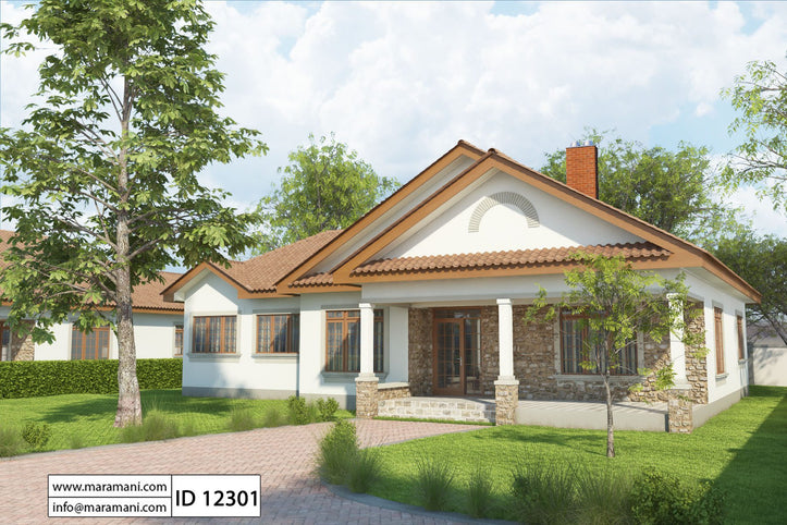 Simple 2 Bedroom House Plan - ID 13402 - House Designs by Maramani