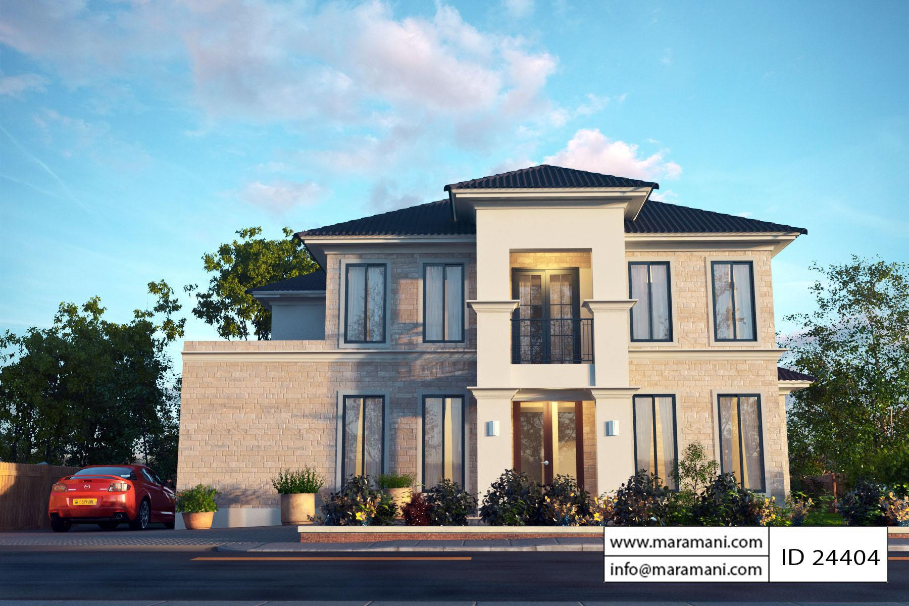 Four Bedroom Modern House Plan - House Plans Maramani.com