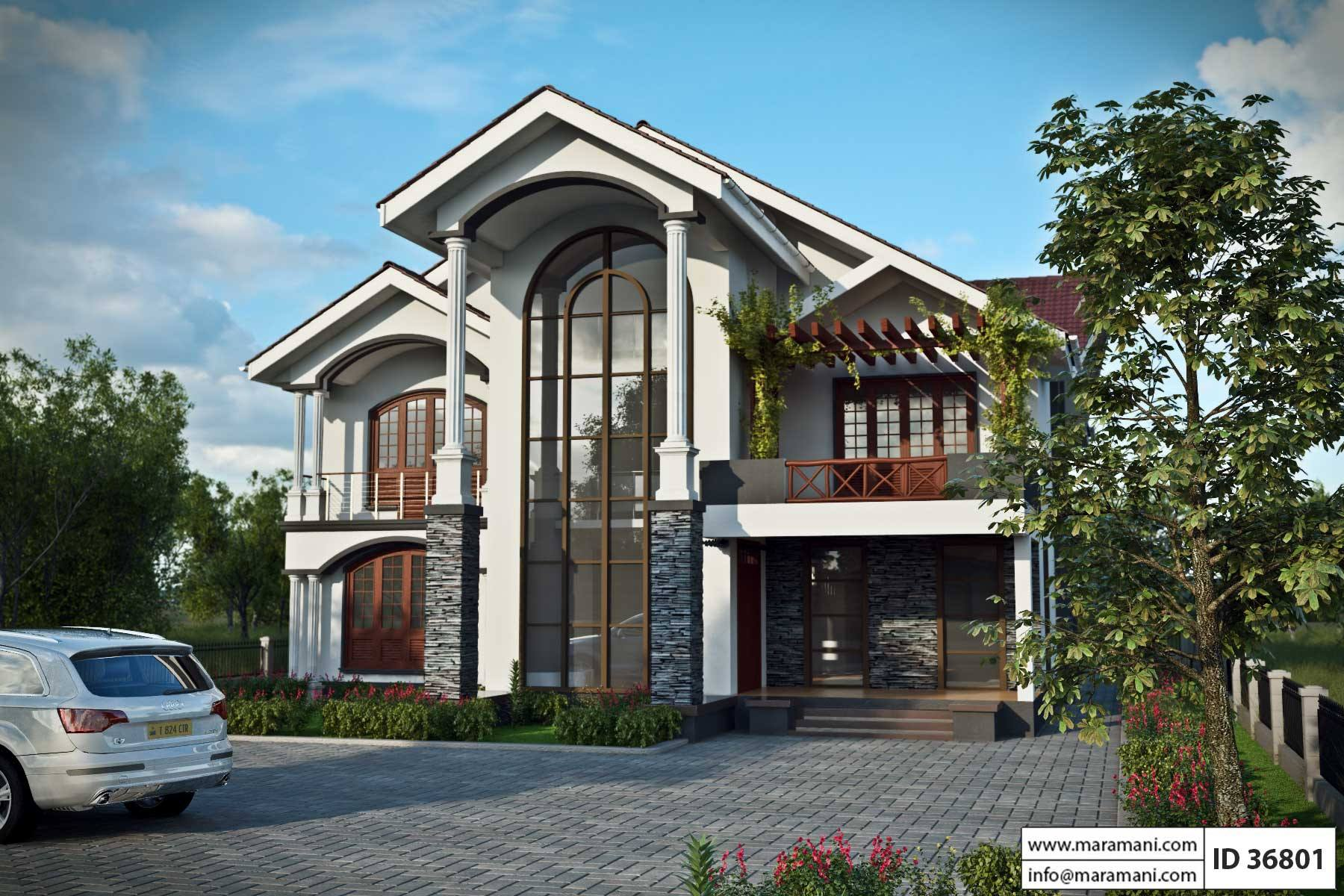 Six bedroom house plan id 36801 house designs by maramani Six bedroom house plans