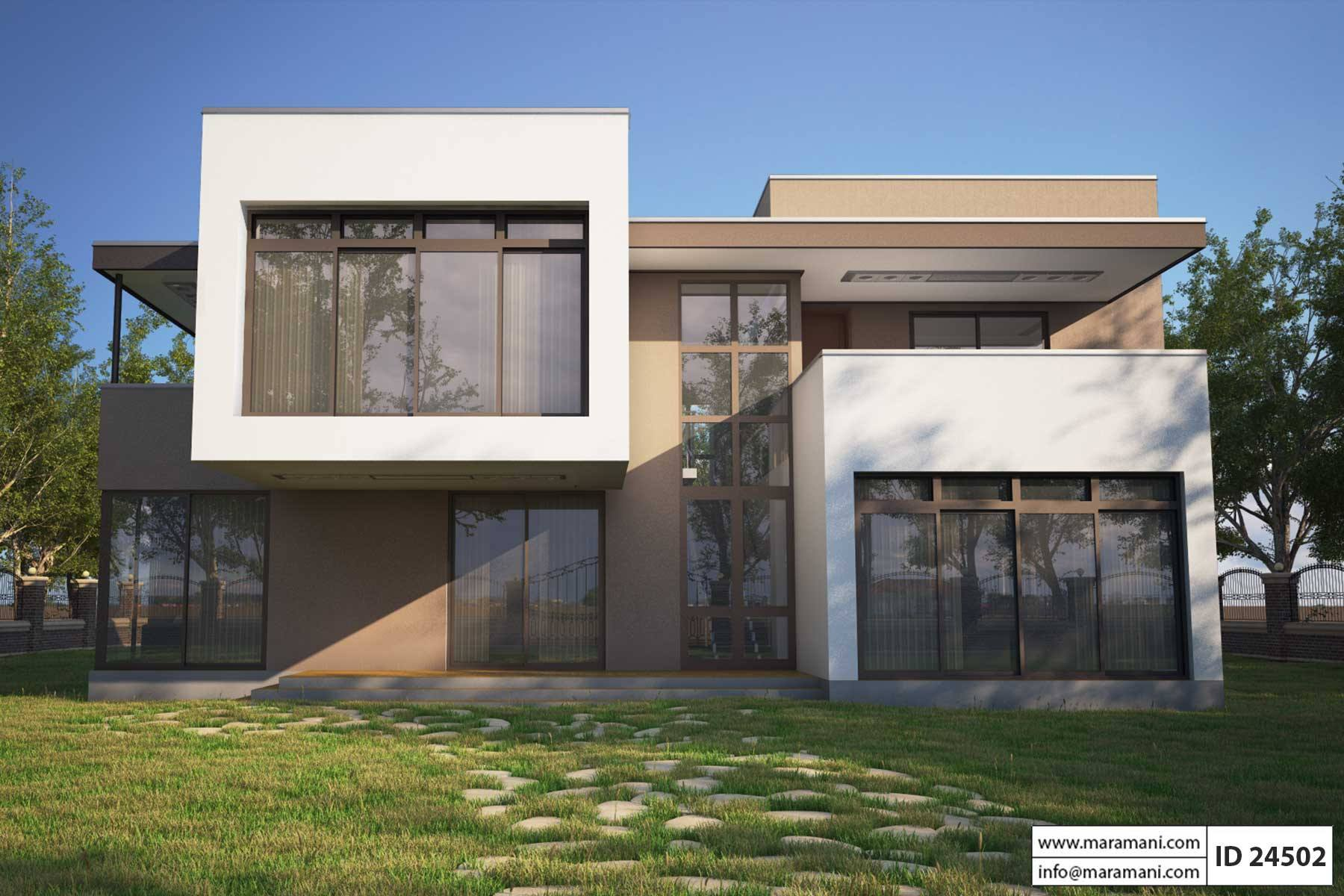 4 bedroom modern house plan id 24502 house plans maramani for Four bedroom maisonette plans