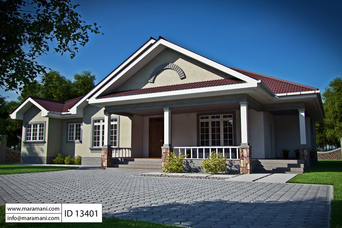 3 bedroom bungalow house plan id 13401 house plans by for Housepland
