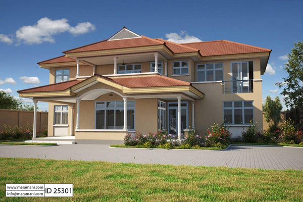 5 bedroom house plan 2 story - ID 25301 - House Plans by Maramani