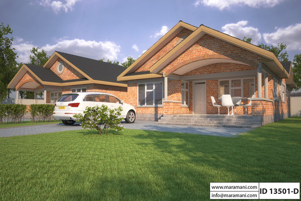 3 Bedrooms Duplex Plan - ID 13501 - House Plans by Maramani