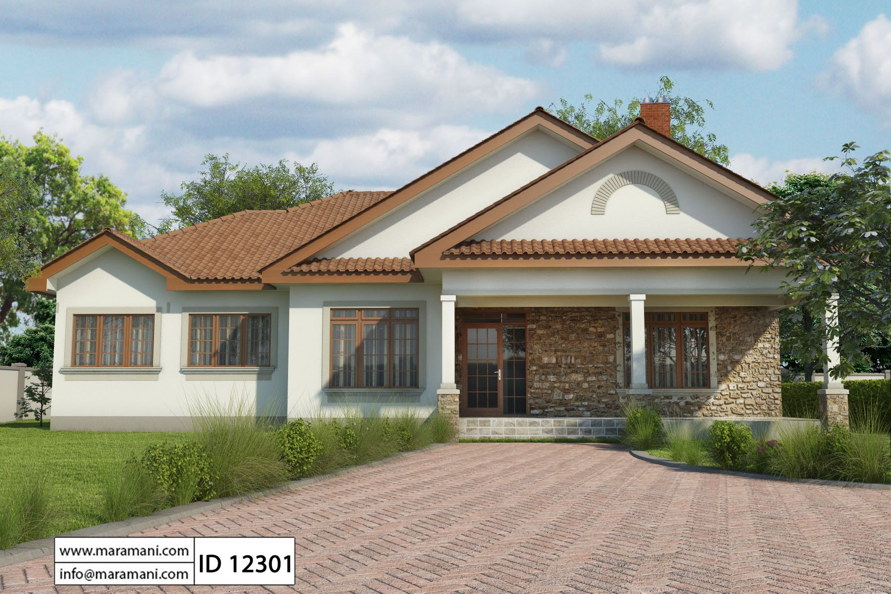 Simple 2 bedroom house plan id 13402 house designs by for New build 2 bedroom house