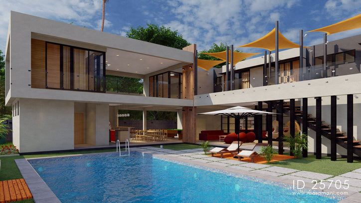 Contemporary 5 bedrooms - ID 25705