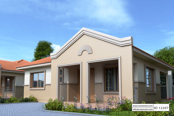 Two bedrooms house plan - ID 12207 - House Designs by Maramani